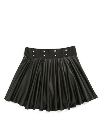 Jenna & Jessie Faux Leather Skirt (Little Girls)