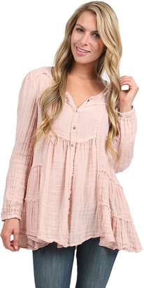 Free People Whistle While You Work Top in Soft Pink