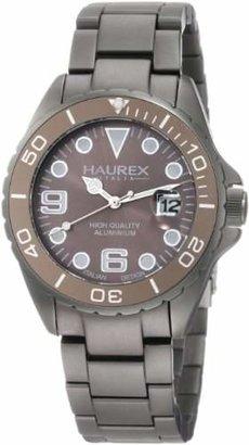 Haurex Italy Men's 7K374UGG Ink Aluminum Bracelet Date Watch