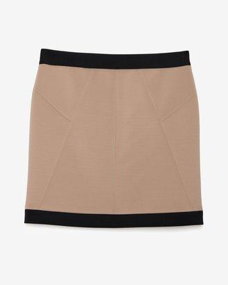Robert Rodriguez Colorblock Zipper Front Techno Skirt