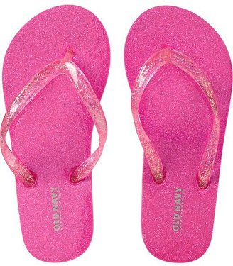 Old Navy Girls Glitter Flip-Flops