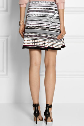Diane von Furstenberg Flote jacquard-knit mini skirt