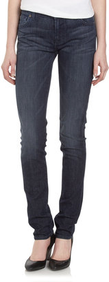 7 For All Mankind Roxanne Ardmores Blue Mountain Skinny Jeans