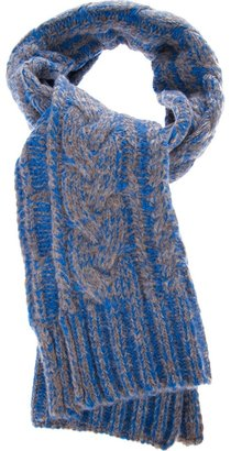Marc by Marc Jacobs chunky cable scarf