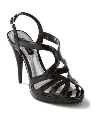 White House Black Patent Strappy Heel