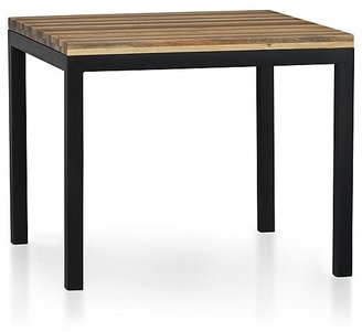 Crate & Barrel Parsons Reclaimed Wood Top/ Dark Steel Base 36x36 Square Dining Table