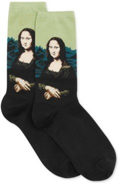 Hot Sox Women's Mona Lisa Artist Series Fashion Crew Sock