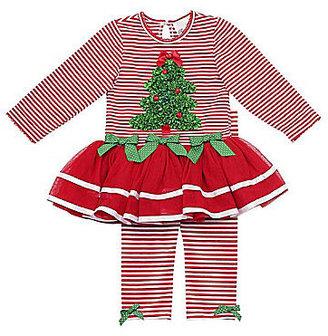 Rare Editions Newborn Christmas Tree Tutu Leggings Set