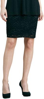 Eileen Fisher Crinkled Lace Skirt