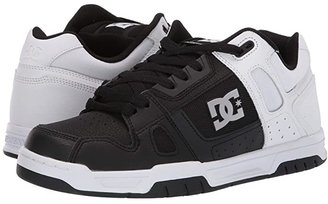 DC Stag (White/Black/White) Men's Skate Shoes
