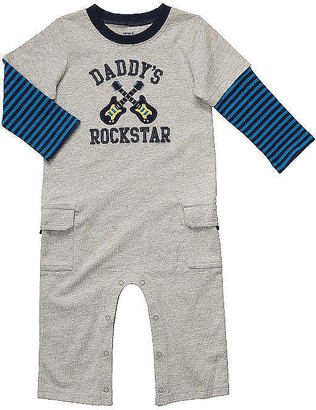 Carter's Boy Thermal Layered Daddy's Rockstar Jumpsuit - Grey
