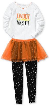 Carter's Baby Pajamas, Baby Girls Halloween 3-Piece Shirt, Skirt and Pants