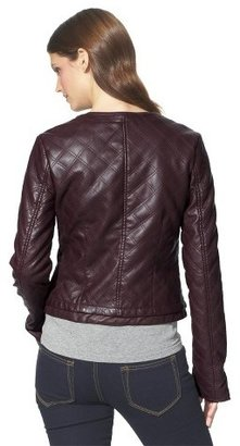 Xhilaration Junior's Quilted Faux Leather Jacket -Assorted Colors
