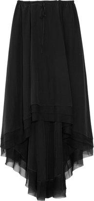 Elizabeth and James Mina drawstring silk-crepe skirt