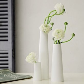 The White Company Trio Of Porcelain Bud Vases