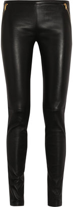 Emilio Pucci Stretch-leather skinny pants