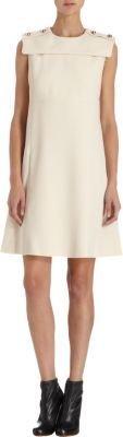 Chloé Stud Shoulder Shift Dress
