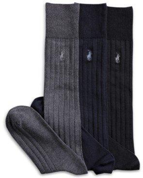 Polo Ralph Lauren 3 Pack Over the Calf Dress Men's Socks