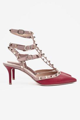 Valentino Rock Studded Ankle Strap Heels