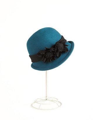 PARKHURST Floral Wool Cloche Hat