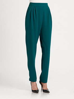 By Malene Birger High-Waisted Crepe Pants