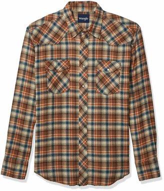 Wrangler Big and Tall Western Flannel Shirt -