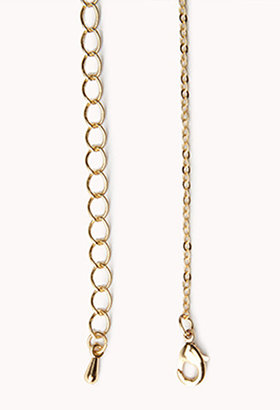 Forever 21 Etched L Initial Pendant Necklace