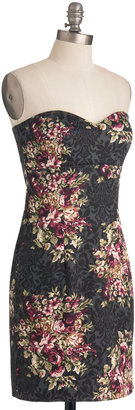 Filigree and Floral Dress in Sheath