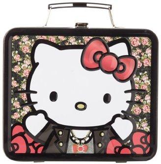 Hello Kitty Leather Jacket Flowers SANLB0083 Childrens School Lunchbox