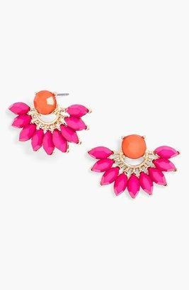 BaubleBar 'Peacock' Fan Stud Earrings