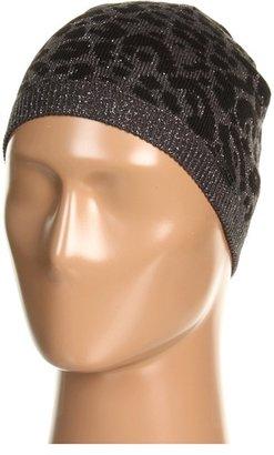Calvin Klein Leopard Beanie Hat (Black) - Hats