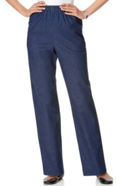 Alfred Dunner Petite Classics Pull-On Denim Pants