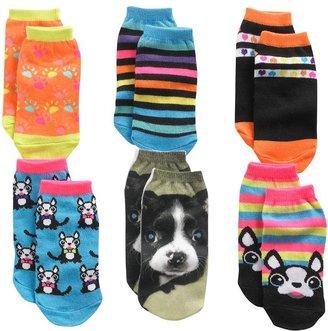 Pink Cookie 6-pk. dog no-show socks - girls