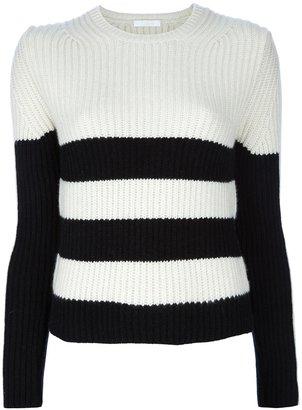 Chloé contrast crew neck sweater