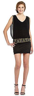 Sequin Hearts Studded Blouson Dress