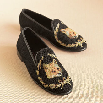 Gump's Fox Needlepoint Loafers