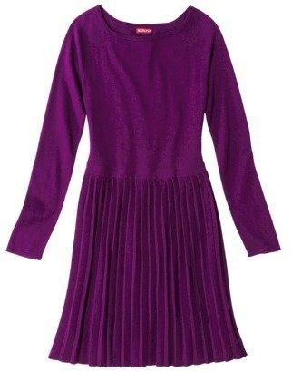 Merona Women's Pleated Skirt Sweater Dress - Assorted Colors