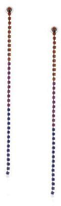 Nine West Limelight Hematite-Tone Color Block Linear Drop Earrings