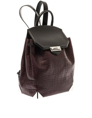 Alexander Wang Prisma embossed-leather backpack