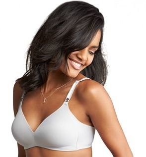 Warner's Bra: No Side Effects Underarm-Smoothing Wire-Free Bra 01056 $40 thestylecure.com