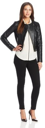 Catherine Malandrino CATHERINE Women's Sarah Quilted Faux-Leather Jacket