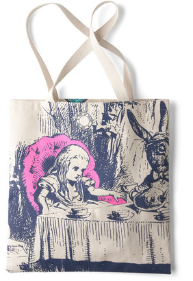 Out of Print Bookshelf Bandit Tote in Alice