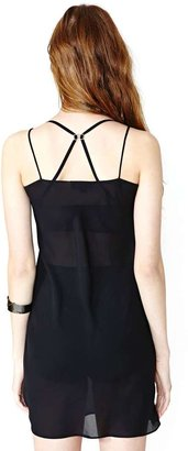 Nasty Gal Nicole Miller Midnight Whispers Slip Dress