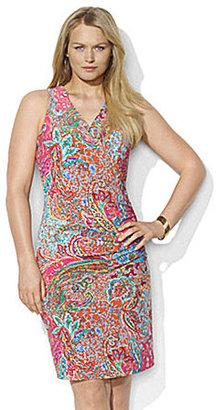 Lauren Ralph Lauren Woman Paisley Faux-Wrap Dress