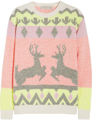 Stella McCartney Reindeer intarsia wool-blend sweater