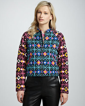 Mara Hoffman Multicolor Quilted Bomber Jacket