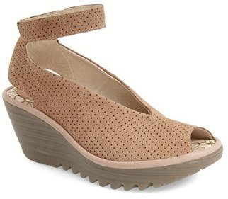 Women's Fly London 'Yala' Perforated Leather Sandal $159.95 thestylecure.com