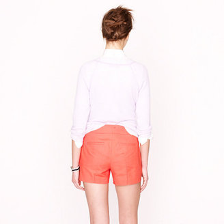 J.Crew Pleated short in structured cotton