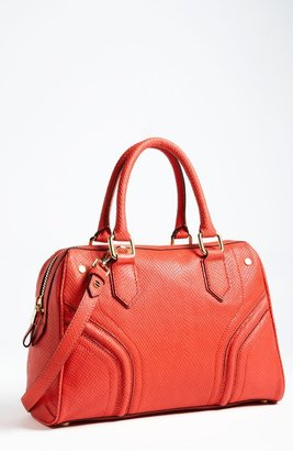 Milly 'Zoey' Snake Embossed Leather Satchel