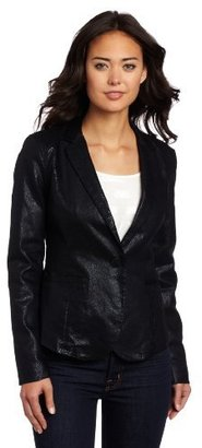 Calvin Klein Jeans Women's Clean Fitted Seamed Blazer